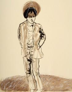 encre/aquarelle/pastel - 63 x 48 cm