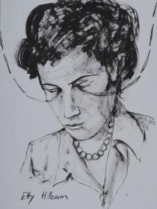 Etty Hillesum,  encre - 47 x 32 cm
